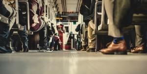 public transportation feet on bus tenleytown DC